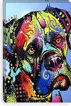 Mastiff Warrior By Dean Russo Canvas Print #4204