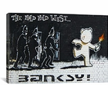 Mild Mild West By Banksy Canvas Print #2065