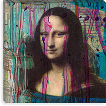 Mona Lisa Dripping By Luz Graphics Canvas Print #LUZ31