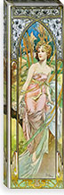 Morning Awakening, 1899 By Alphonse Mucha Canvas Print #15203