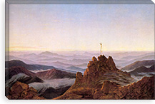 Morning in the Giant Mountains By Caspar David Friedrich Canvas Print #15026