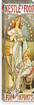 Nestle's Food for Infants (1898) By Alphonse Mucha Canvas Print #15171