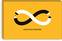 Never Stop Creating By Budi Satria Kwan Canvas Print #13818