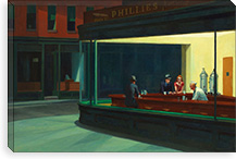 Nighthawks, 1942 By Edward Hopper Canvas Print #13378