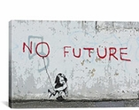 No Future Girl Balloon By Banksy Canvas Print #2005