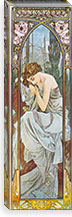 Nocturnal Slumber, 1899 By Alphonse Mucha Canvas Print #15206