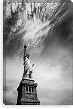 NYC Miss Liberty By Nina Papiorek Canvas Print #11655