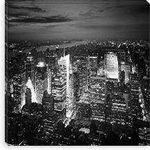 NYC Nights By Nina Papiorek Canvas Print #11656
