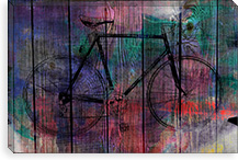Old Fixie Woodgrain Canvas Print #UVP59a