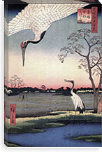 One Hundred Famous Views of Edo Canvas Print #102 By Utagawa Hiroshige l Canvas Print #13628