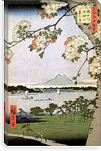 One Hundred Famous Views of Edo Canvas Print #35 By Utagawa Hiroshige l Canvas Print #13623