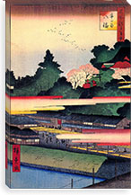 One Hundred Famous Views of Edo Canvas Print #41 By Utagawa Hiroshige l Canvas Print #13624