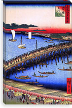 One Hundred Famous Views of Edo Canvas Print #53 By Utagawa Hiroshige l Canvas Print #13625