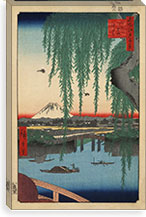 One Hundred Famous Views of Edo Canvas Print #62 By Utagawa Hiroshige l Canvas Print #13626