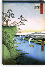 One Hundred Famous Views of Edo Canvas Print #95 By Utagawa Hiroshige l Canvas Print #13627