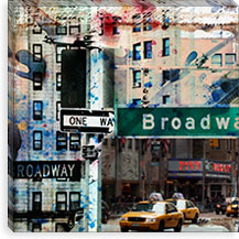 One Way Broadway By Luz Graphics Canvas Print #LUZ27