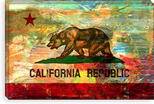 Pattern Fade California Flag Canvas Print #UVP72