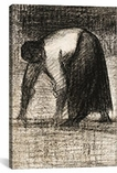 Paysanne Les Mains Au Sol 1882 By Georges Seurat Canvas Print #1238