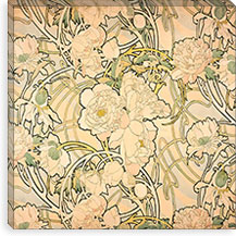 Peonies (1897) By Alphonse Mucha Canvas Print #15181