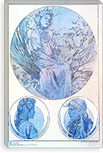 Plate 45 from 'Documents Decoratifs', 1902 By Alphonse Mucha Canvas Print #15192