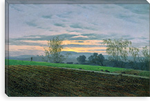 Ploughed Field By Caspar David Friedrich Canvas Print #15031