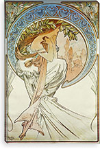 Poetry (1896) By Alphonse Mucha Canvas Print #15157