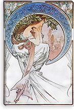 Poetry, 1898 #2 By Alphonse Mucha Canvas Print #15198