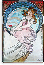 Poetry (1898) By Alphonse Mucha Canvas Print #15158