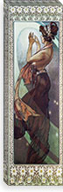 Pole Star, 1902 By Alphonse Mucha Canvas Print #15214