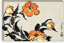 Poppies By Katsushika Hokusai Canvas Print #13688