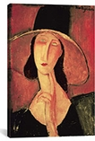 Portrait of a Woman (jeanne H�buterne) By Amedeo Modigliani Canvas Print #1463