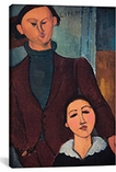 Portrait of Jaques and Bethe Lipchitz By Amedeo Modigliani Canvas Print #1506