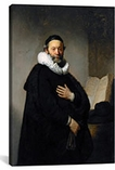 Portrait of Johannes Wtenbogaert 1633 by Rembrandt Canvas Print #1122