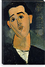 Portrait of Juan Gris By Amedeo Modigliani Canvas Print #14071