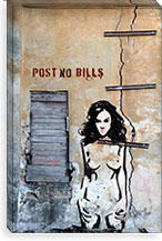 Post No Bills By Luz Graphics Canvas Print #LUZ18