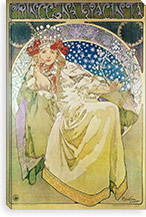 Princess Hyacinth (1911) By Alphonse Mucha Canvas Print #15176