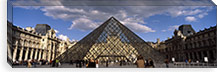 Pyramid in front of a building, Louvre Pyramid, Musee Du Louvre, Place du Carrousel, Paris, Ile-de-France, France #PIM7019