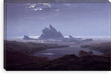 Reefs by the Seashore (1824) By Caspar David Friedrich Canvas Print #15041