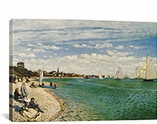 Regatta at Sainte-Adresse 1867 By Claude Monet Canvas Print #1035