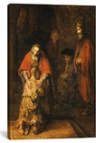 Return of the Prodigal Son 1668-1669 by Rembrandt Canvas Print #1117