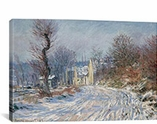 Route DeGgiverny En Hiver 1885 By Claude Monet Canvas Print #1056
