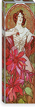 Ruby By Alphonse Mucha Canvas Print #15159