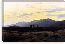 Ruins of Eldena Abbey and the Riesengebirge By Caspar David Friedrich Canvas Print #15039