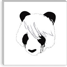 Sad Panda By Budi Satria Kwan Canvas Print #13825