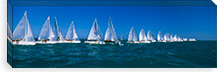Sailboat racing in the ocean, Key West, Florida, USA #PIM3095