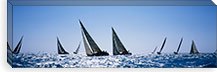 Sailboats racing in the sea, Farr 40's race during Key West Race Week, Key West Florida, 2000 #PIM6867