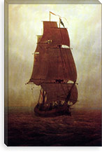 Sailing Ship By Caspar David Friedrich Canvas Print #15025