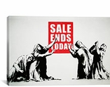 Sale Ends Today By Banksy Canvas Print #2010