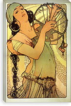 Salome By Alphonse Mucha Canvas Print #15155