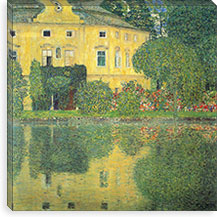 Schloss Kammer on the Attersee IV (Schloss Kammer on Lake Attersee IV) By Gustav Klimt Canvas Print #14042
